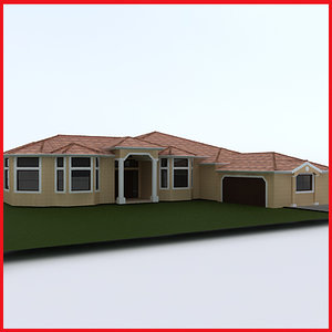 house 4 3d max