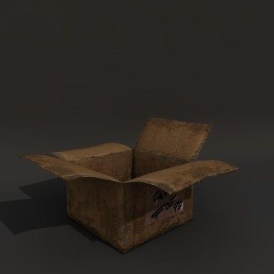 paper box c4d free