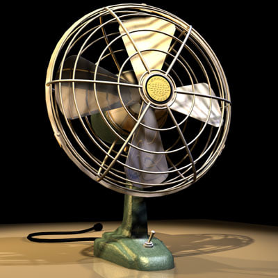desk fan retro 01 3d model
