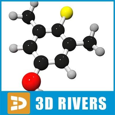 dettol molecule structure 3d 3ds