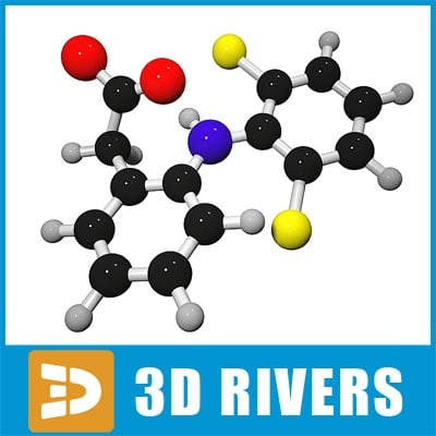 diclofenac molecule structure 3ds
