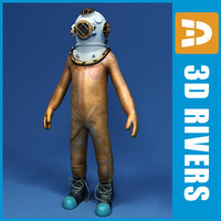 diver old style 3d model
