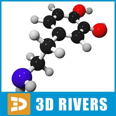 maya dopamine molecule structure