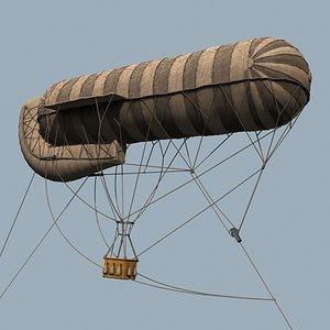 wwi balloon drachen 3d model