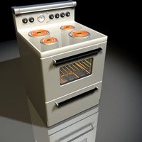 electric range retro 01 3d 3ds