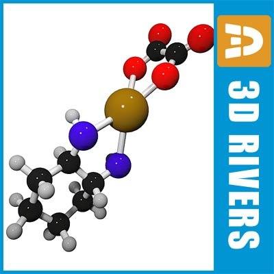 eloxatin molecule structure 3d max