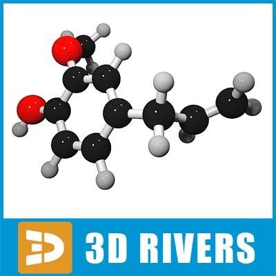 3ds max eugenol molecule structure