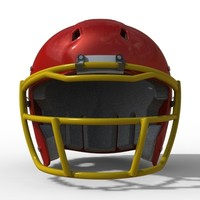 3d model modern football helmet