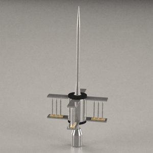 3d lighting rod