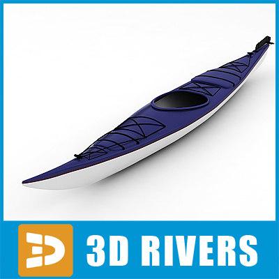 modern kayak boat canoes 3d max