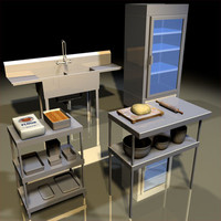 kitchen equipment 01 3d model