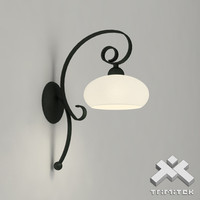 3d wrought iron wall lamp