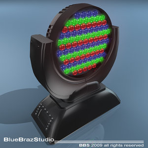 led moving head 3d dxf