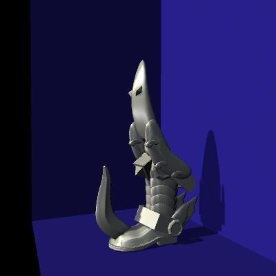 maya legs boot armor