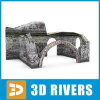 3d model building basement ruin