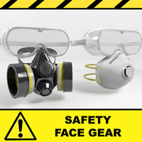 3d model safety mask