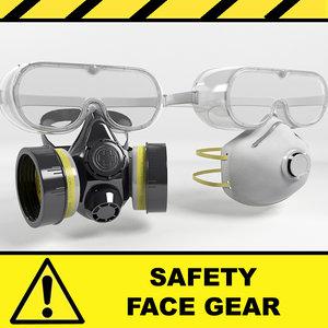 3d model safety mask