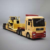 3d truck lowboy boy model