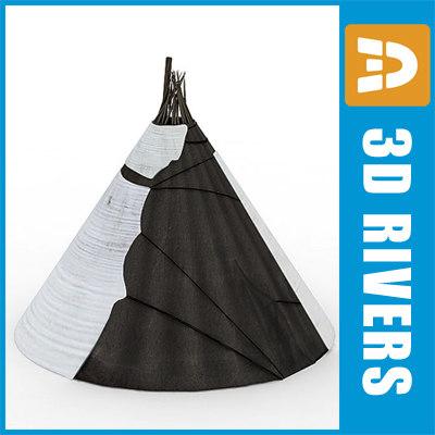 yurt nomad tent home 3d max