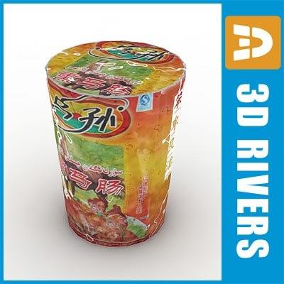 cup noodles 3d model
