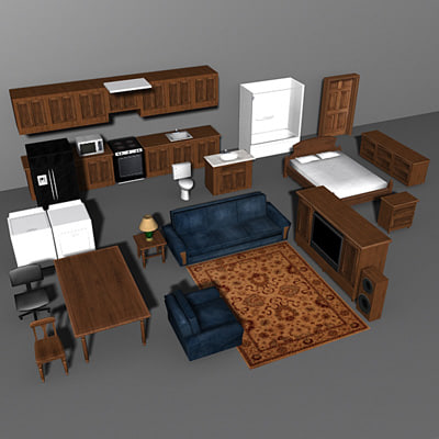 house furnishings 3d model