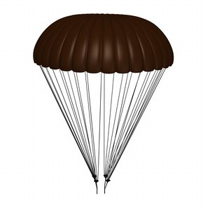 parachute 3d model