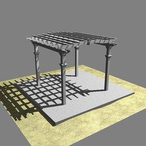 pergola plate patio 3ds