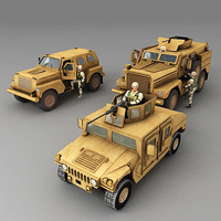 US Soldiers and vehicles