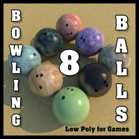 8 Low Polygon Bowling Balls