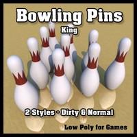 maya king bowling pins -