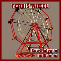 Low Polygon Ferris Wheel