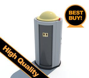3d model public toilet