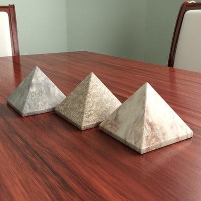 granite pyramid decorative stones 3d model
