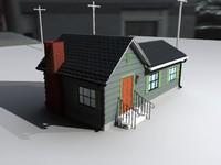 3d model small home