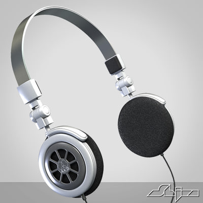 3d headphone model