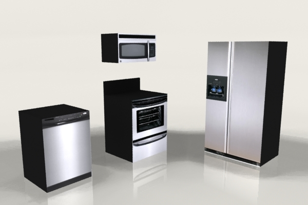 kitchen appliances 3d 3ds