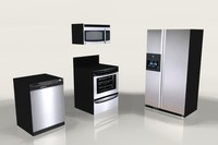 Low Poly Kitchen Appliances
