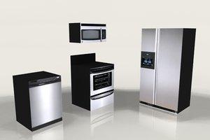kitchen appliances 3d 3ds
