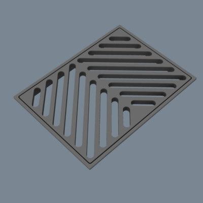sewer grate 3d model
