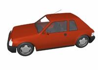 3d small car