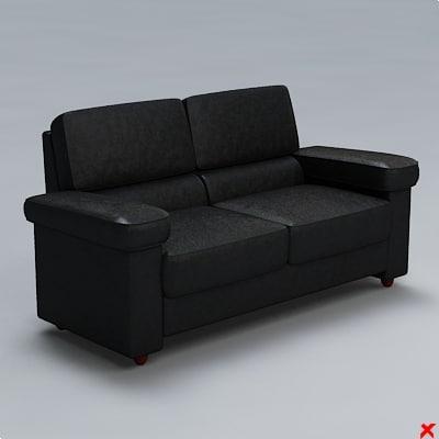 sofa loveseat 3ds