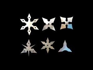 3d model throwing stars