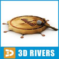 shaman tambourine 3d model