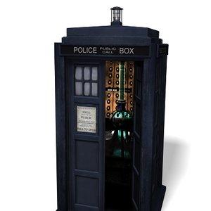 police box doctor tardis 3d model