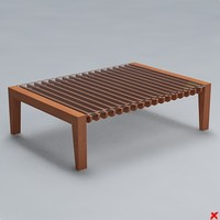 free table coffee 3d model