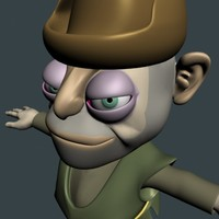3d theef cartoon character model
