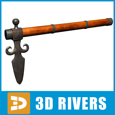 3d model tomahawk axe native