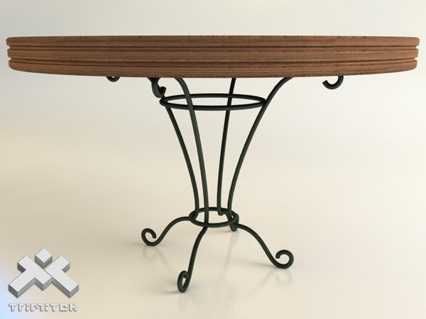 wrought iron table 3d 3ds