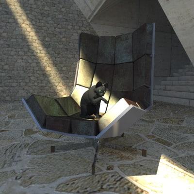 3d model villain chair