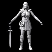 princess warrior xena c4d